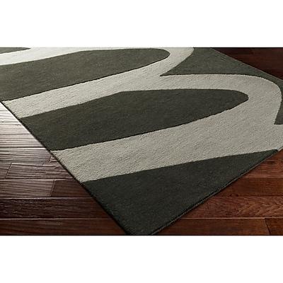 Varick Gallery Nida Hand-Tufted Black/Gray Area Rug; 8' x 10'