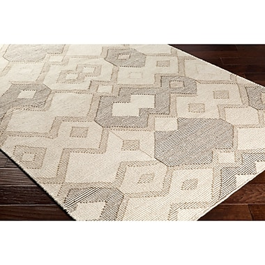 Varick Gallery Holden Hand-Woven Neutral/Brown Area Rug; 8' x 10'