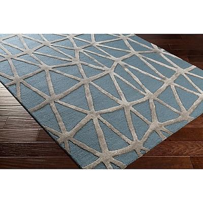 Varick Gallery Blandon Hand-Tufted Blue/Gray Area Rug; Rectangle 8' x 10'