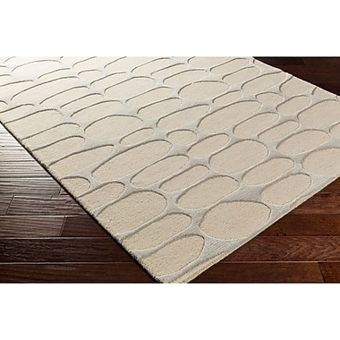 Varick Gallery Nida Hand-Tufted Neutral/Gray Area Rug; 4' x 6'