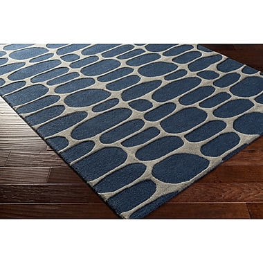 Varick Gallery Nida Hand-Tufted Blue/Gray Area Rug; 8' x 10'