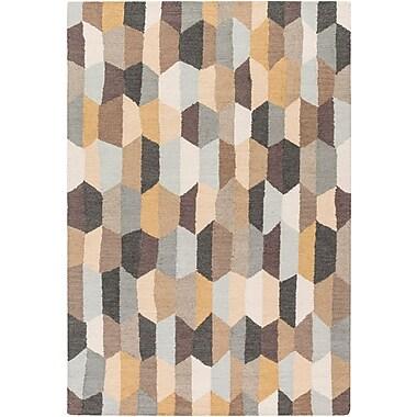 Varick Gallery Senger Hand-Tufted Beige/Gray Area Rug; 2' x 3'