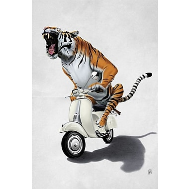 Varick Gallery Rooooaaar! II Graphic Art on Wrapped Canvas; 60'' H x 40'' W x 1.5'' D