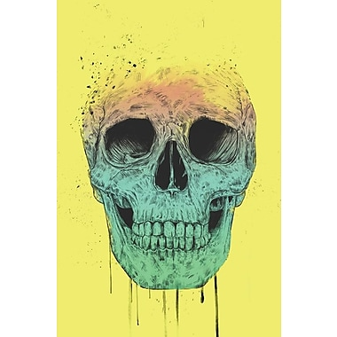 Varick Gallery Pop Art Skull Graphic Art on Wrapped Canvas; 26'' H x 18'' W x 0.75'' D