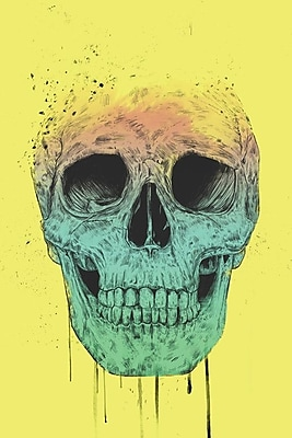 Varick Gallery Pop Art Skull Graphic Art on Wrapped Canvas; 60'' H x 40'' W x 1.5'' D
