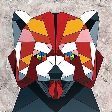 Varick Gallery Redpanda Graphic Art on Wrapped Canvas; 12'' H x 12'' W x 0.75'' D
