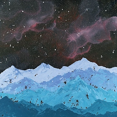 Varick Gallery Space Mountains Painting Print on Wrapped Canvas; 26'' H x 26'' W x 0.75'' D