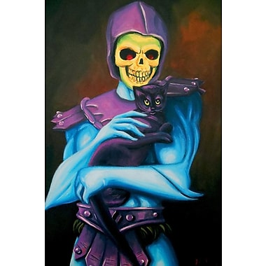 Varick Gallery Skeletor Holding A Cat Painting Print on Wrapped Canvas; 18'' H x 12'' W x 0.75'' D