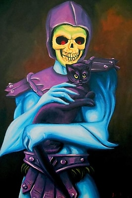 Varick Gallery Skeletor Holding A Cat Painting Print on Wrapped Canvas; 18'' H x 12'' W x 1.5'' D