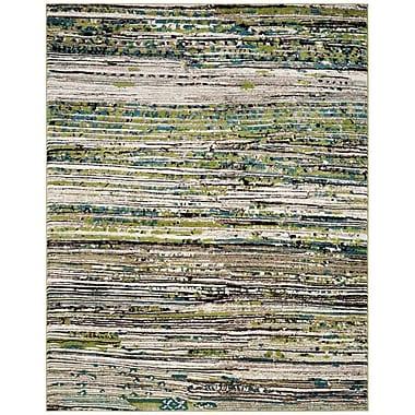 Varick Gallery Sevastopol Cream/Green Area Rug; 4' x 6'
