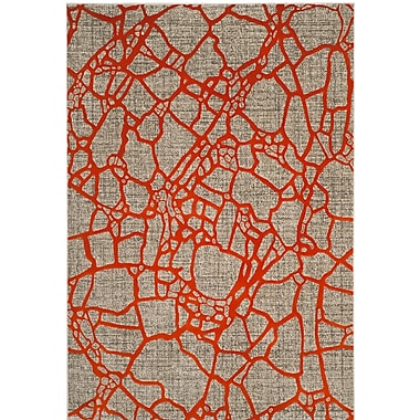 Varick Gallery Sevastopol Gray/Orange Area Rug; 5'2'' x 7'6''