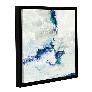 Varick Gallery White and Blue Framed Graphic Art on Wrapped Canvas; 10'' H x 10'' W x 2'' D