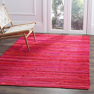 Varick Gallery Shatzer Hand-Woven Red Area Rug; 4' x 6'