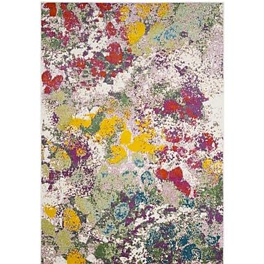 Varick Gallery Shankle Green/Red Area Rug; 5'3'' x 7'6''