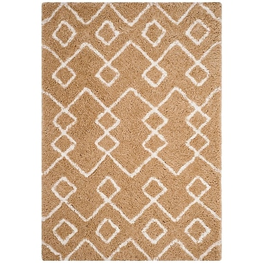 Varick Gallery Shead Hand-Tufted Beige/Ivory Area Rug; Square 5' x 5'