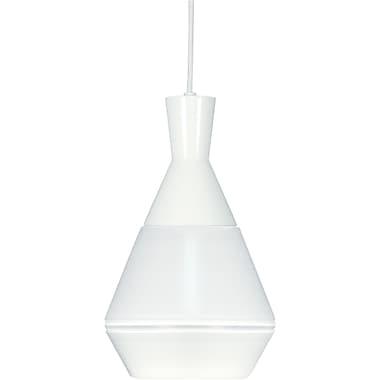 Varick Gallery Presnell 1-Light Mini Pendant; White