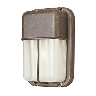Varick Gallery Hinson 1-Light Outdoor Flush Mount; Satin Aluminum