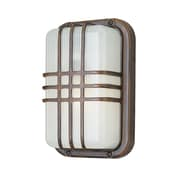 Varick Gallery Hintz 1-Light Outdoor Bulkhead Light; White