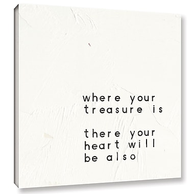 Varick Gallery Words of Encouragement V Textual Art on Wrapped Canvas; 14'' H x 14'' W x 2'' D