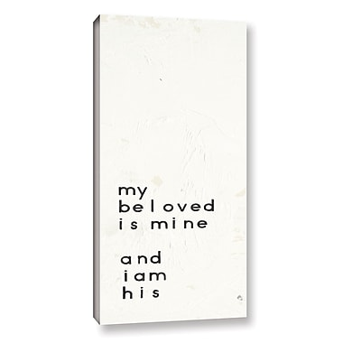 Varick Gallery Words of Encouragement II Textual Art on Wrapped Canvas; 24'' H x 12'' W x 2'' D