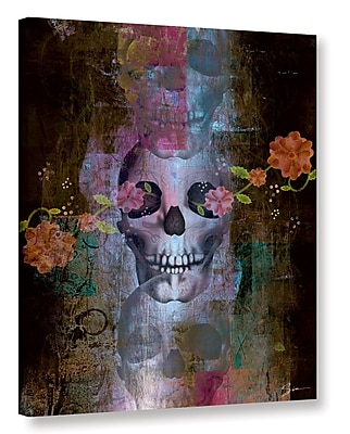 Varick Gallery 'Skull' Graphic Art on Wrapped Canvas; 8'' H x 10'' W