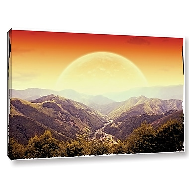 Varick Gallery 'Highland Sunset' Photographic Print on Wrapped Canvas; 16'' H x 24'' W