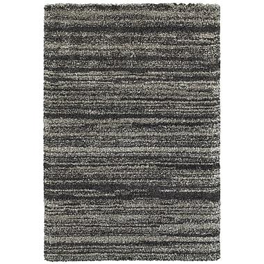 Varick Gallery Barnhart Gray/Charcoal Area Rug; 6'7'' x 9'6''