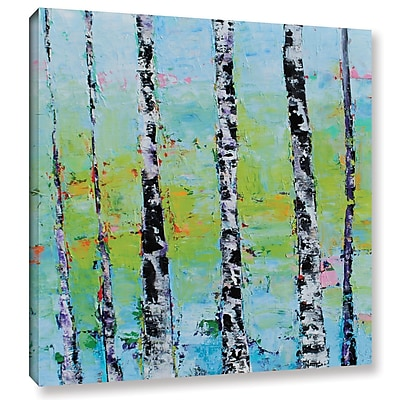 Varick Gallery 'View Thru Birches' Painting Print on Wrapped Canvas; 18'' H x 18'' W x 2'' D