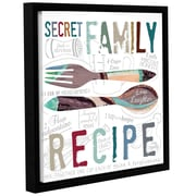 Varick Gallery 'Family Recipe' Framed Textual Art on Wrapped Canvas; 14'' H x 14'' W x 2'' D