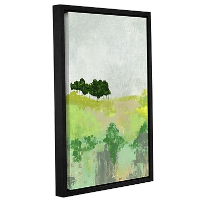 Varick Gallery 'Trees' Framed Painting Print on Wrapped Canvas; 12'' H x 8'' W x 2'' D