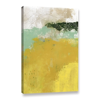 Varick Gallery 'The Yellow Field' Painting Print on Wrapped Canvas; 24'' H x 16'' W x 2'' D