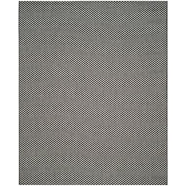 Varick Gallery Jefferson Place Black/Light Gray Outdoor Area Rug; 2'7'' x 5'
