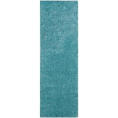 Varick Gallery Hornell Power Loomed Blue Area Rug; Runner 2'3'' x 7'