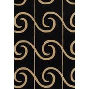 Varick Gallery Siemens Black Area Rug; 7'9 inch x 10'6 inch  by