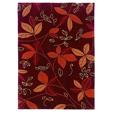 Varick Gallery Askins Hand-Tufted Red Area Rug; 8' x 10'