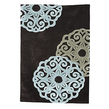 Varick Gallery Askins Hand-Tufted Chocolate Area Rug; 8' x 10'