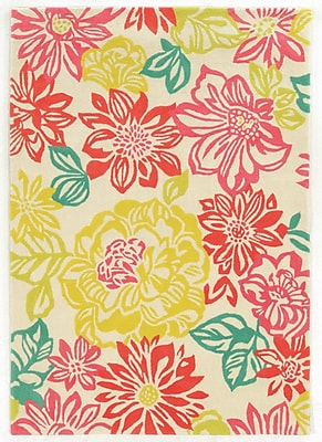 Varick Gallery Askins Hand-Tufted Pink/Yellow Area Rug; 8' x 10'