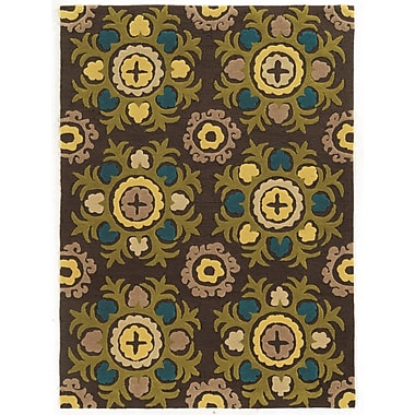 Varick Gallery Askins Hand-Tufted Chocolate Area Rug; 1'10'' x 2'10''