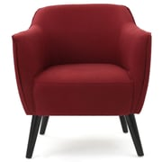 Varick Gallery Aurianna Club Chair; Deep Red