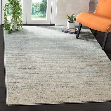 Varick Gallery Schacher Slate/Cream Area Rug; 6' x 9'
