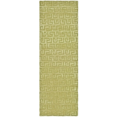 Varick Gallery Schaub Hand-Tufted Green Area Rug; Runner 2'6'' x 10'