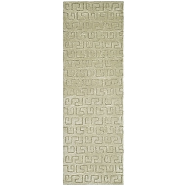 Varick Gallery Schaub Hand-Tufted Taupe Area Rug; Runner 2'6'' x 10'