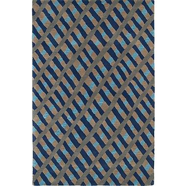 Varick Gallery Schafer Hand Tufted Blue/Brown Area Rug; 8' x 10'