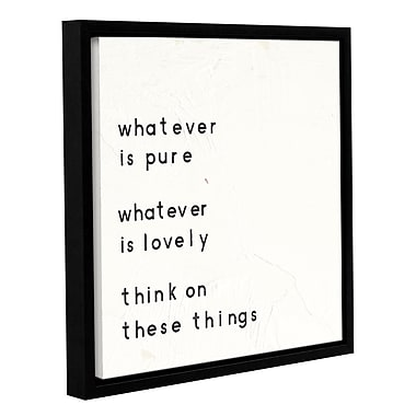 Varick Gallery Words of Encouragement IV Framed Textual Art; 10'' H x 10'' W x 2'' D