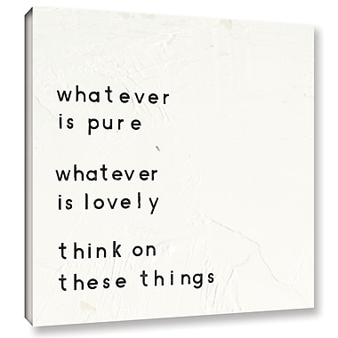 Varick Gallery Words of Encouragement IV Textual Art on Wrapped Canvas; 18'' H x 18'' W x 2'' D