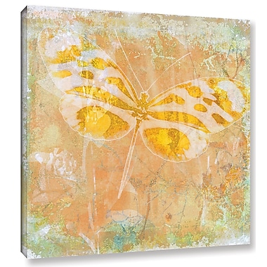 Varick Gallery 'Papillon X' by Sia Aryai Painting Print on Wrapped Canvas; 24'' H x 24'' W x 2'' D