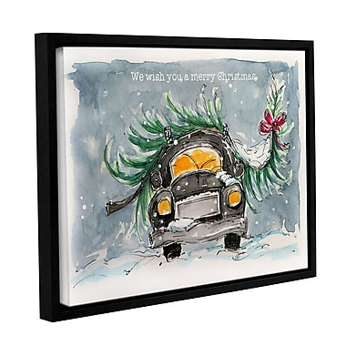 Varick Gallery We Wish You a Merry Christmas Framed Painting Print on Wrapped Canvas