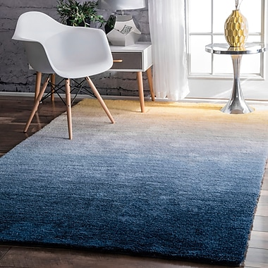Varick Gallery Lyric Hand-Tufted Navy Area Rug; 5' x 8'