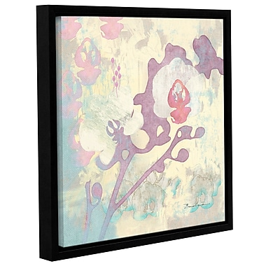 Varick Gallery Abstract Orchids Panel I Framed Graphic Art; 14'' H x 14'' W x 2'' D