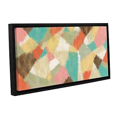 Varick Gallery 'Pinwheel' by Silvia Vassileva Framed Painting Print; 16'' H x 24'' W x 2'' D